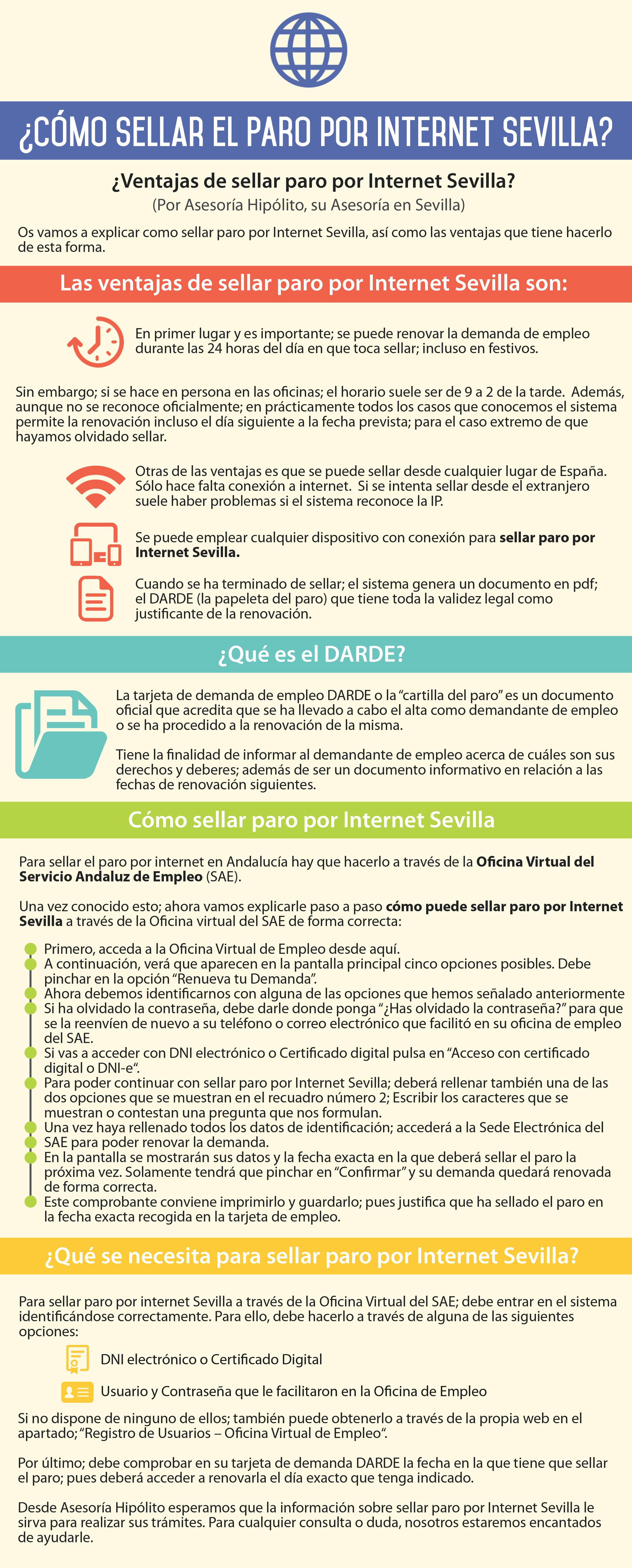 Cómo sellar el paro por internet Sevilla